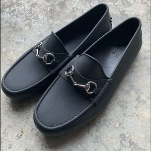 NEW Gucci Rubberized Driving Mocs Size11